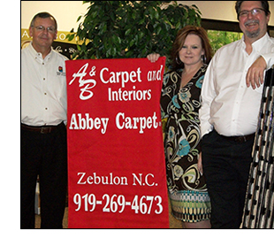 The staff of A & B's Abbey Carpet & Floor.